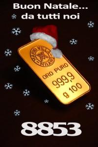 Oro: Buon Natale a tutti voi!